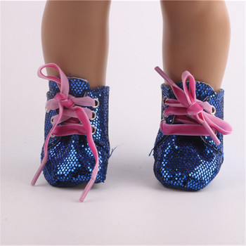 New arrive high quality Popular blue shoes fit 18 inch American girl dolldoll accessories best gift for children N375
