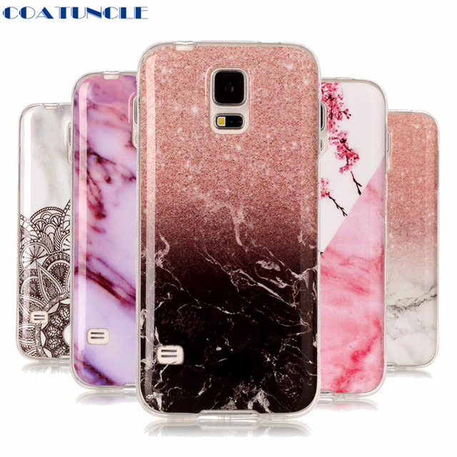 COATUNCLE Marble Stone Case sFor Coque Samsung Galaxy S5 SM-G900F i9600 Soft TPU Rubber Back Cover Phone Case For samsung S5