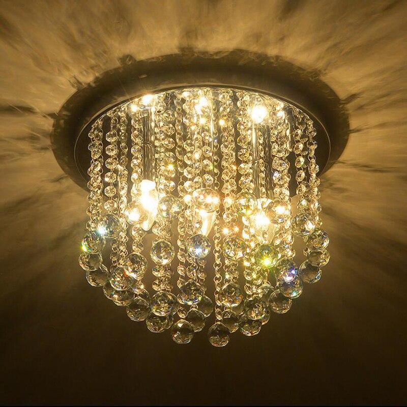 高級デザインクリスタル天井ランプ現代plafondlamp光沢天井照明用リビングルームの寝室  グループ上の ライト & 照明 からの シーリングライト の中 2
