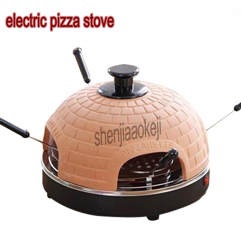 220 v ménage 3-5 personnes électrique pizza poêle mini cuisson four Restaurant rôti viande four maison 800 W 1 pc