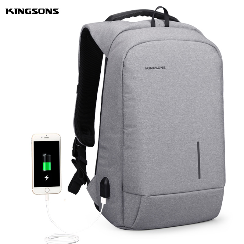 Kingsons Waterproof USB Anti theft laptop Men s bags Male Notebook Backpack Travel Sports for Boys