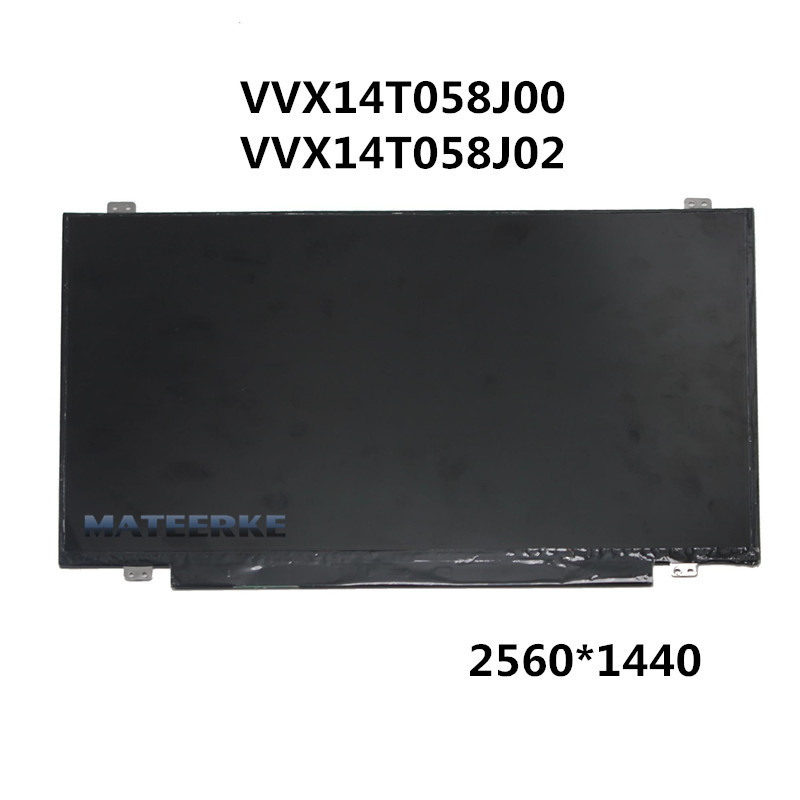 14 inch LED LCD Screen VVX14T058J02 VVX14T058J00 2560*1440 for lenovo thinkpad t460s t460p computer lcd led screen upgrade 3k lcd monitor vvx14t058j00 2560 1440 upgradable 3k screen