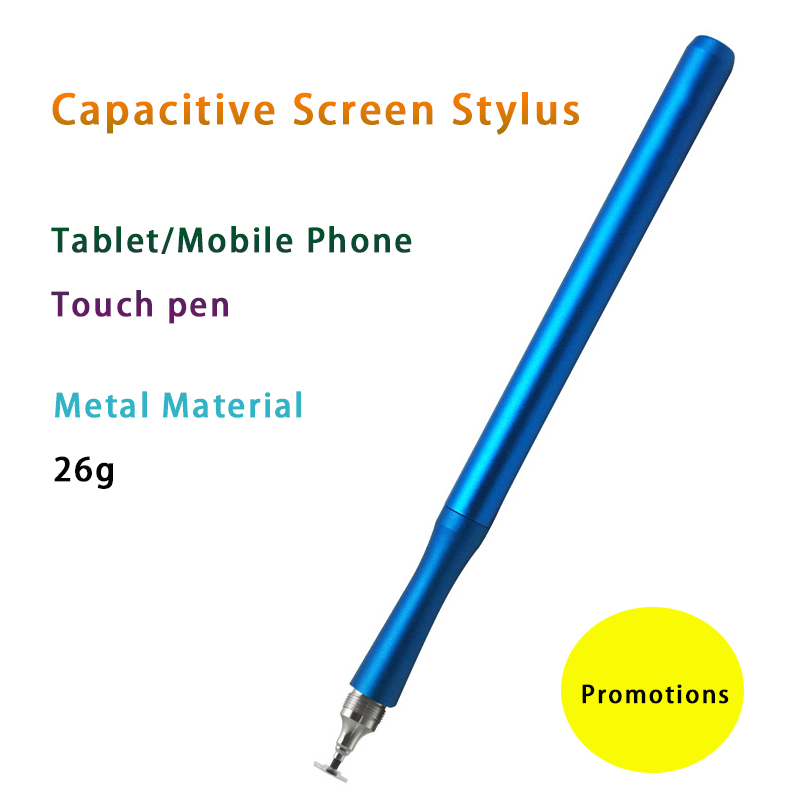 imágenes para Moda phoneTouch móvil Pluma de La Pantalla Táctil capacitiva Sensible Stylus Para iPhone/iapd/samsung/sony/Lenovo tablet de metal lápiz