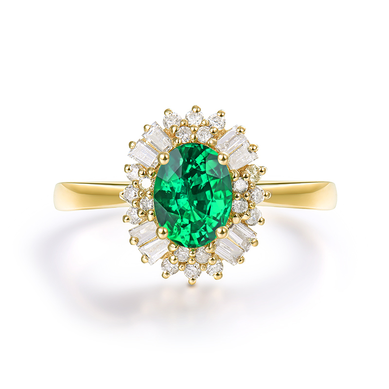 5226c4c1ee32c US $592.0 |Fine Jewelry Real 14K Yellow Gold Colombia Emerald Ring Natural  Diamond for Men and Women Party-in Rings from Jewelry & Accessories on ...
