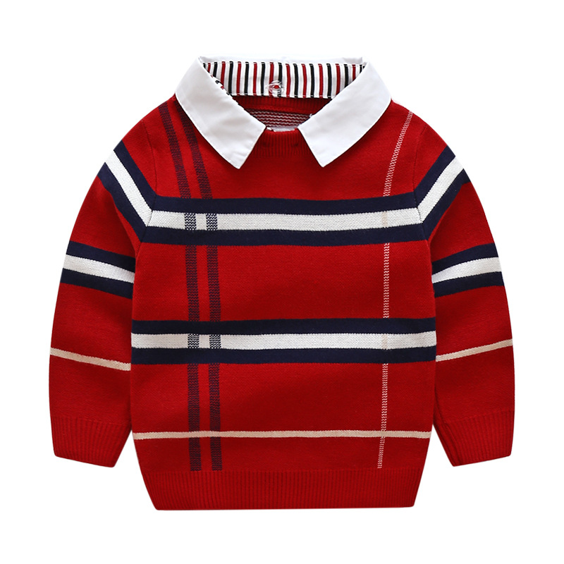 2df5b43a2 2018 Autumn Brand Design Hot Sale Stripe Boy Sweater Wool Knitted ...