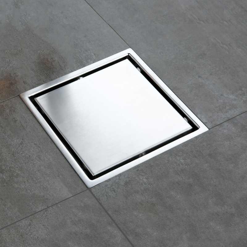 304 ステンレス鋼排水床ストレーナー 11 × 11 センチメートル正方形見えない浴室の床廃棄すりおろドレン