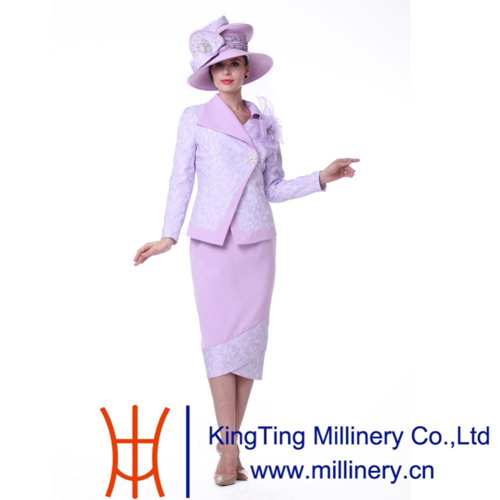 Kueeni Women 3pcs Church Suits Jacket Skirt Mother Of The Bride Outfits Wedding Purple Diamond Casings Turn Down Collar Dresses In S Sets From