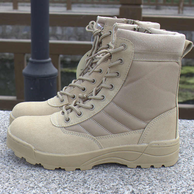 fc98070d5a0 Mens Boot Desert Tactical Military Boots Combat Boots Male Outdoor  Waterproof Travel Shoes Safety Boots Sneakers Botas Masculin
