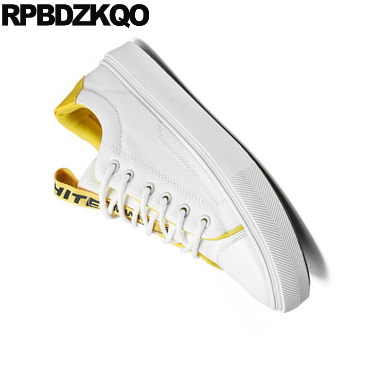 Sneakers New 2018 Lace Up Rubber Comfort Summer Breathable Skate Trainers White China Designer Men Canvas Shoes Casual High Top 6