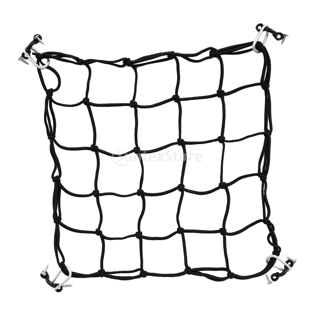 Kayak Canoe Boat Package Carrier Deck Cargo Luggage Mesh Net 40x40cm Super Stretch Bungee Cargo Net DIY Accessories