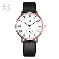 Shengke Women Watch Top Luxury Brand Wristwatches Women Antique Leather Watches Relogio Feminino Women Quartz Watch