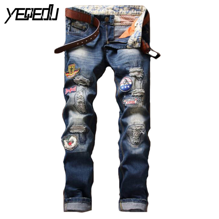 Compare Prices on Mens Distressed Jeans Ripped- Online Shopping ...