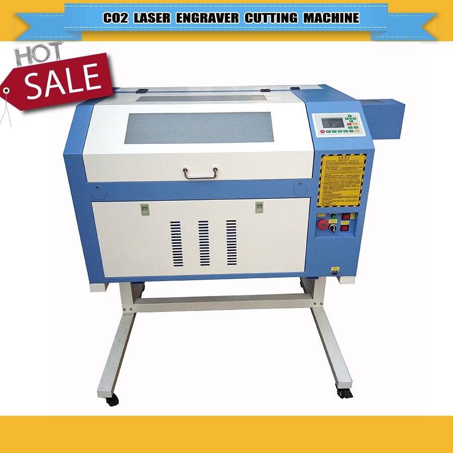 Machine de gravure Laser Co2 4060/6040 Guides linéaires de puissance 50/60/80 W