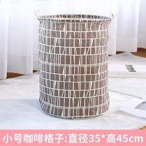 Image 5 - Cesta de lavanderia à prova dwaterproof água mais tamanho cestas de armazenamento com alça dobrável conveniente família caixa de armazenamento crianças brinquedos roupas