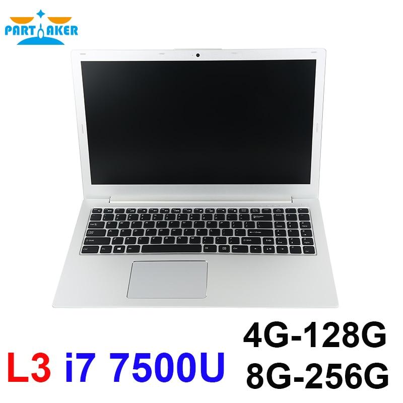 Parpreneur 15.6 pouces L3 Bluetooth WIFI Intel double Core I7 7500U ordinateur portable Support DDR4 RAM