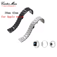Hot Sale 38mm 42mm For Apple Ceramic Watchbands High Quality IWatch Strap Black White Watch Bracelet