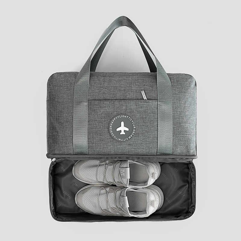 c326cd2147 Women Man Dry and Wet Separation Beach Bag Male Outdoor Sport Waterproof  Shoe Bag Swimwear Storage