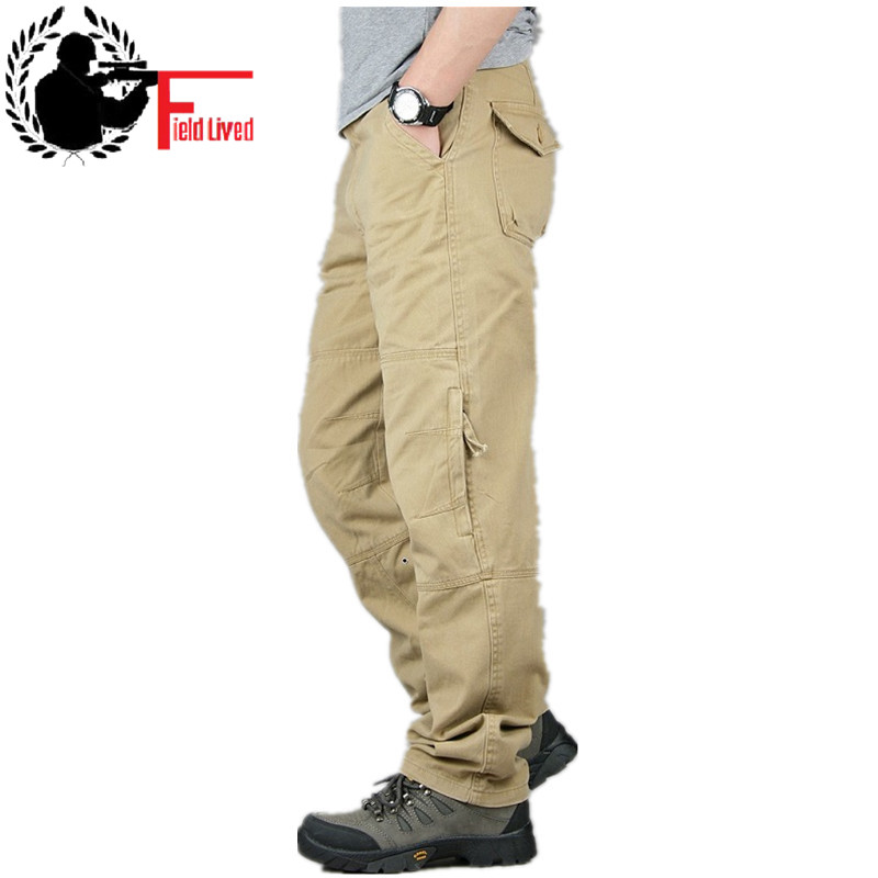 30-40 High Quality Men's Cargo Pant Baggy Casual Men Tactical Pant Multi Pocket Military Overall Male Outdoors Long Trouser Army