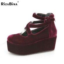 Envío gratis zapatos de tacón alto de cuña mujeres de moda sexy vestido calzado P10855 tamaño EUR 34-39