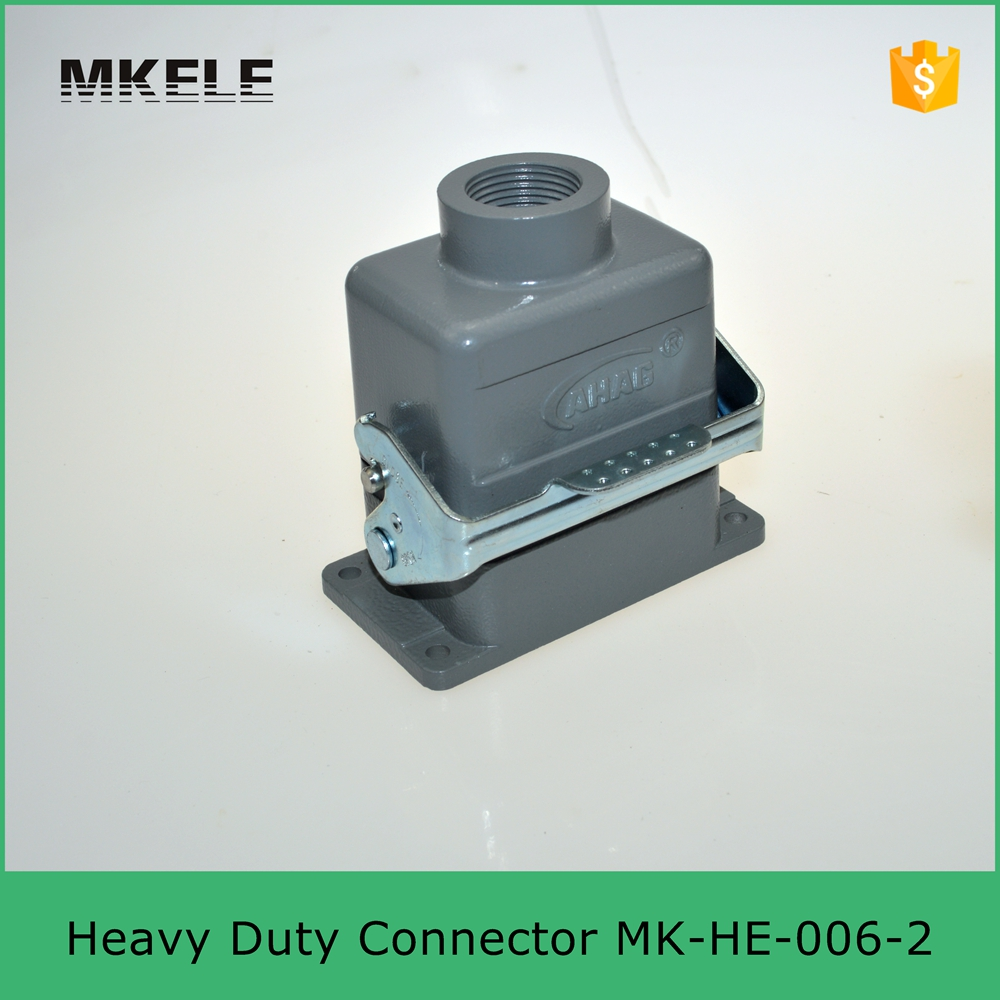 MK-HE-006-2D European standard side entry 16A 400V/500V industrial harnesses wire Harting heavy duty crimp connectors he 024 4d 16a terminal block power crimp plug heavy duty connectors for spinning and packing machine
