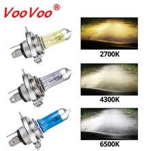 Автомобильный светильник VooVoo H4 H7, автомобильные галогенные лампы, противотуманный светильник s 100W 2700K 4300K 6000K 12V Motercycle, автомобильные Галогенные лампочки с ампулой Voiture