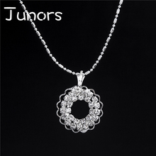 JUNORS Hot Sale Delicate Pendant Necklace Radiant Moon Necklace Sunshine Sunflower Pendant ladies Jewelry Birthday Gift