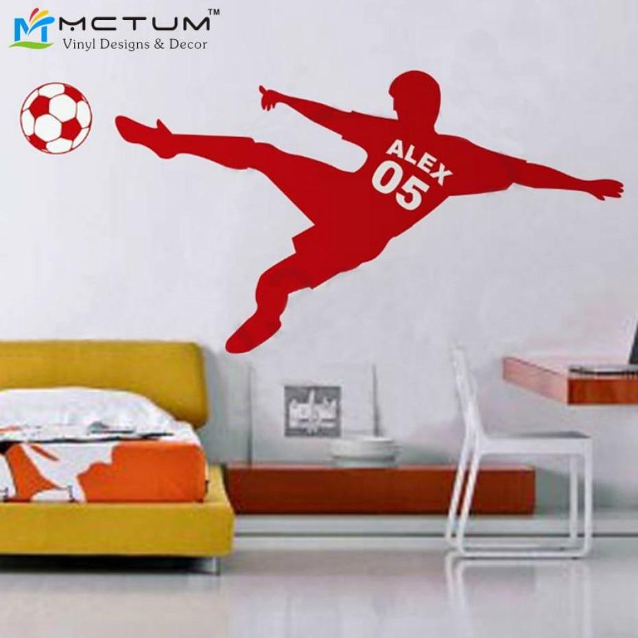 Футбол наклейка на стіну - Домашній декор