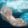 Sapatos 2016 verão nova moda das mulheres sandálias de cunha Mulheres sapatinho de cristal sapatos de geléia ninho de plástico Das Mulheres dos saltos altos sapatos