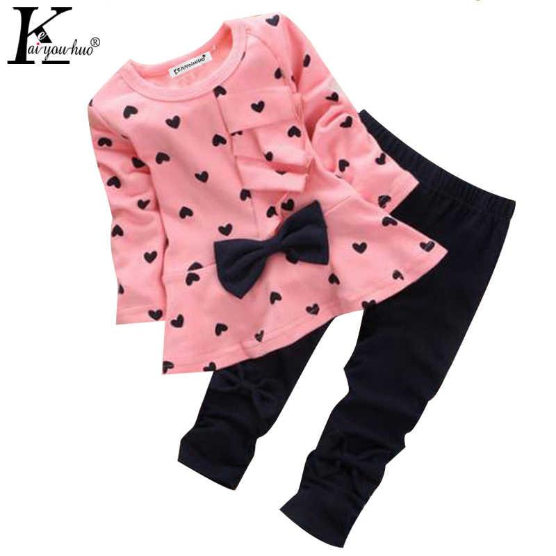 Conjuntos de Roupas 2019 Meninas de Inverno Roupas de criança Meninas T-shirt + Calças 2pcs Outfit Crianças Terno Do Esporte Das Crianças conjuntos de roupas Para Meninas