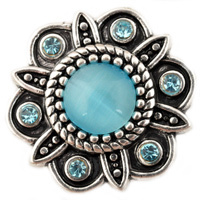 D01997 Wholesale 6 Color High Quality Charm Rhinestone Styles Metal Ginger Snap Button Fit Snaps Bracelets