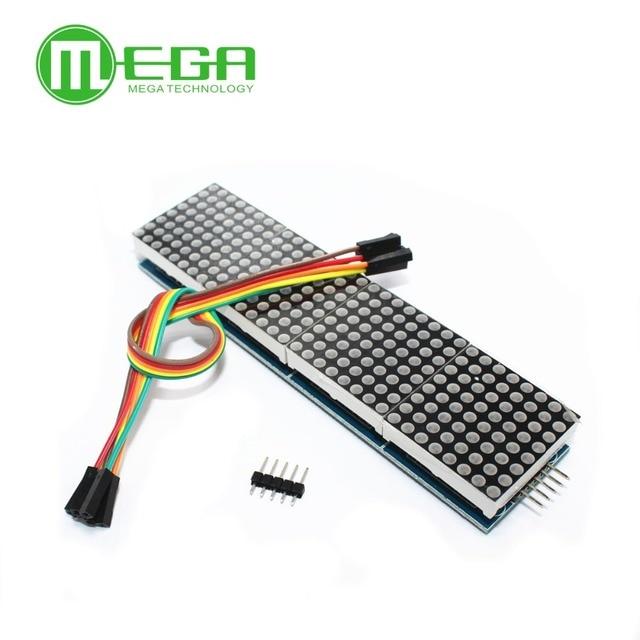 1pcs MAX7219 דוט מטריקס מודול עבור מיקרו 4 בתיבת תצוגה עם 5P קו