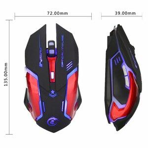 Image 2 - HXSJ 3200 DPI USB Professionale Wired Rapido In Movimento HA CONDOTTO LA Luce Con 6 Pulsanti Gaming Mouse Per Il computer portatile