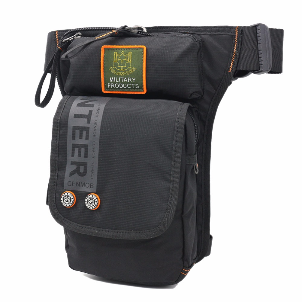 New Men Oxford Leg Fanny Bag Hip Bum Belt Purse Drop Thigh Pouch Motorcycle Rider Top Quality Shoulder Crossbody Waist Pack Bags