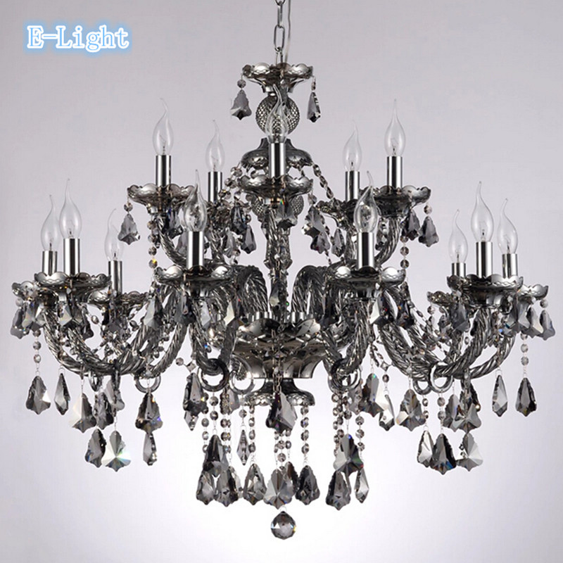 Color Cognac Smoke Black Top Luxury Arms Large Crystal - Long chandelier crystals