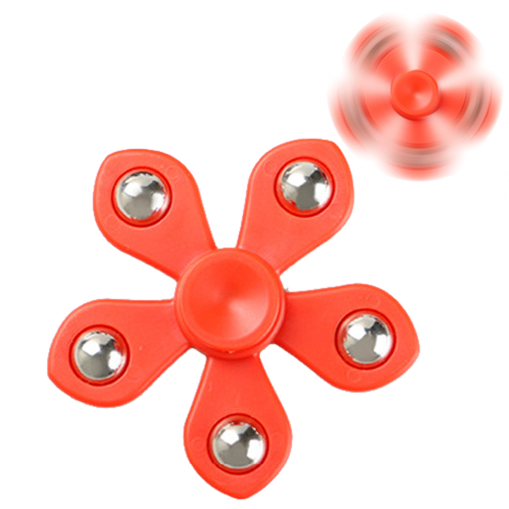 Fidget Sunflower Five Leaves Flower Finger Spinner Hand Focus Anti-Stress Toy