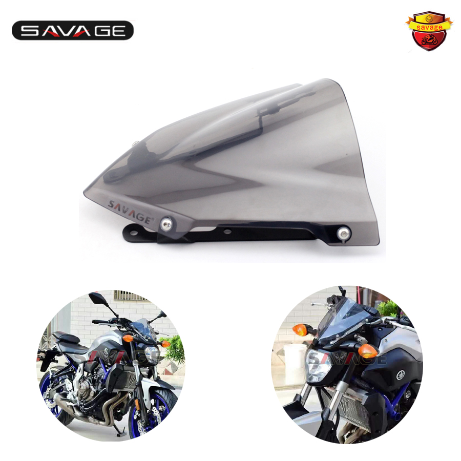 Motorcycle Windshield Windscreen Pare-brise Smoke For YAMAHA MT07 MT-07 FZ-07 2014 2015 2016 yomt motorcycle motorbike windshield smoke race screen for yamaha tmax530 2012 2014 2013 12 13 14 windscreen