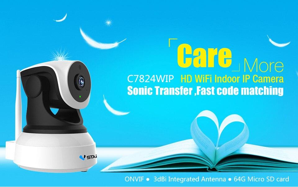 HTB17WRDbYGYBuNjy0Foq6AiBFXat Vstarcam C7824WIP HD WIFI IP Camera 720P Night Vision home Security Camera Wireless P2P Indoor IR cam PTZ IP Camara Audio ONVIF