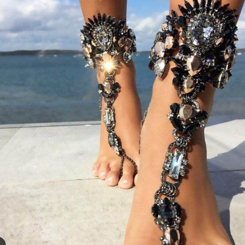 Facebook Fashion Ankle Bracelet Wedding Barefoot Sandals Beach
