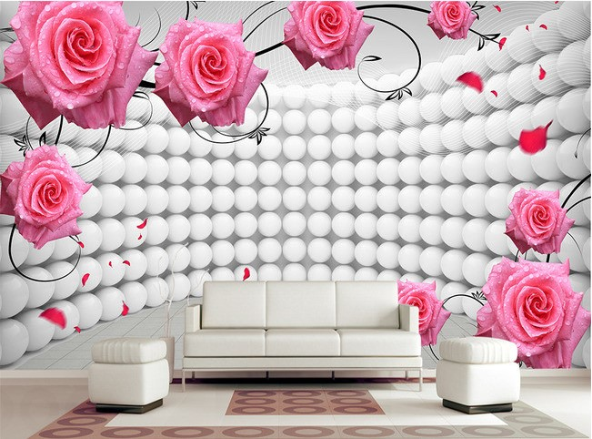 3d wallpaper custom mural non-woven 3d room wallpaper 3 d ball rose petals of TV setting wall paper photo wallpaper for walls 3d wallpaper for walls 3 d modern trdimensional geometry 4d tv background wall paper roll silver gray wallpapers for living room