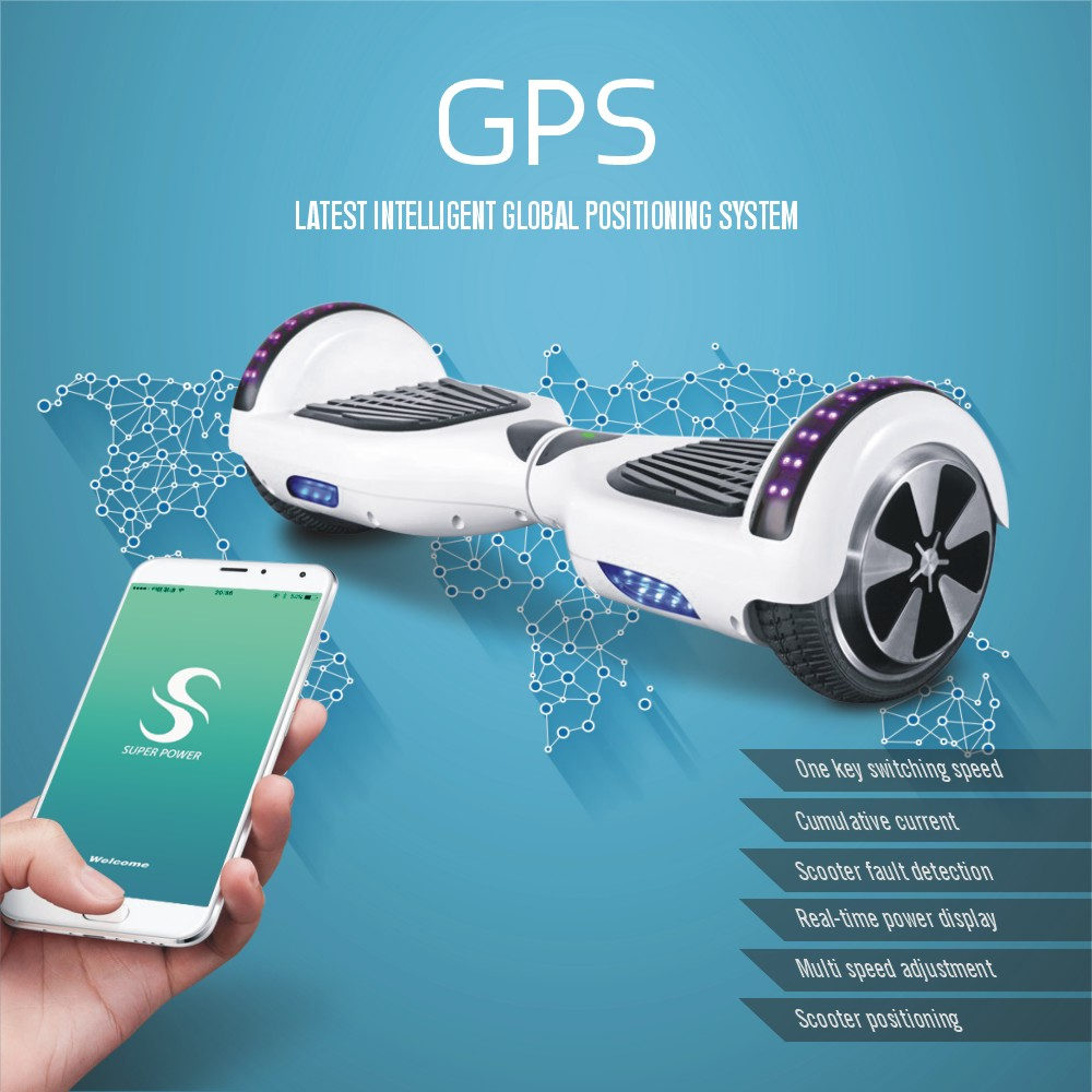 with mobile app hoverboard bluetooth unicycle electric skateboard 2 wheels self balancing. Black Bedroom Furniture Sets. Home Design Ideas