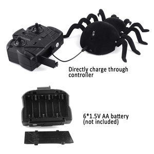 Image 4 - ウォールクライミングクモリモートコントロールのおもちゃ赤外線 RC タランチュラキッドギフト玩具シミュレーション毛皮のような電子クモのためのおもちゃ
