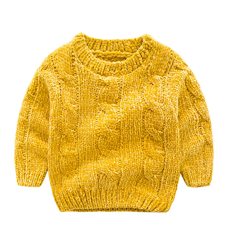 Children's clothing sweater 2018 new children's sweater solid color sweater yellow blue girls baby boy hooded shirt jacket tropical tape detail hooded sweater shirt with drawstring pants