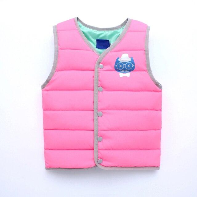 ca795841e29c Autumn Spring Winter Children s Jackets Kids baby Boys Girls Vest ...