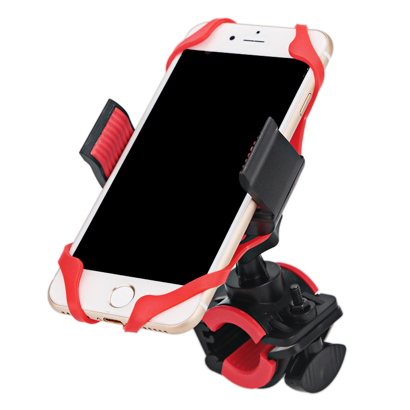Motorcycle Handlebar Mount Holder Bike Bicycle Phone Holder With Silicone Support Band For Iphone Samsung XIAOMI GPS Universal(China)