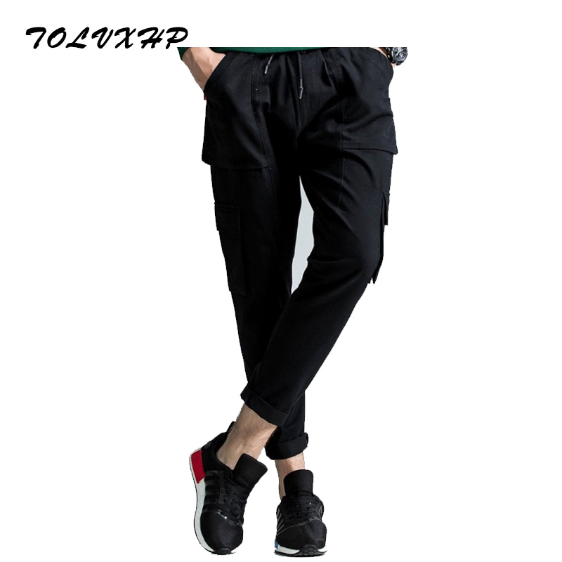 New Arrived 2018 Brand Casual Joggers Multi-Pocket Compression Pants Men Cotton Trousers Calabasas Cargo Pants Mens Leggings 3XL