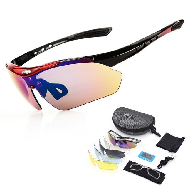 7469c4d895 5 lente VU400 sol polarizadas ciclismo senderismo conducción pesca deportes  al aire libre gafas de sol