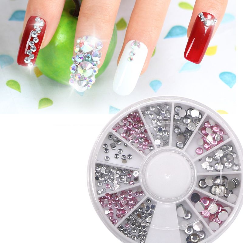 3pcs Diy Uv Gel Nail Art Crystal Stones Acrylic Supplies Shiny Jewelry Rhinestones For 3d Decoration Ongles Set Hot In Decorations