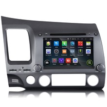 7 inch Android 4.4.4 Quad-Core Car GPS Navigation DVD Player Special for Honda Civic (Left Hand Drive) 2006 2007 2008 2009