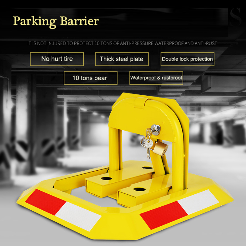 Octagon Yellow Heavy Resistance Strong Manual Car Parking Barrier Lock Garage No Parking Lock Private Dedicated Parking Space