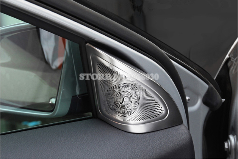 Внутренняя двери автомобиля аудио Динамик рамка Обложка отделка 2 шт. для Benz GLA X156 2013-2018